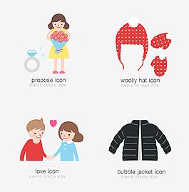 卡通人物毛衣服裝素材設計