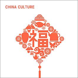 中國傳統福字元素