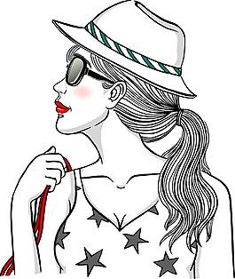 卡通歐美女性人物
