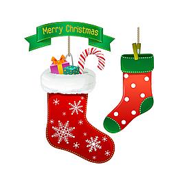 矢量圣誕襪子素材
