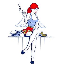 卡通美女天使圖片