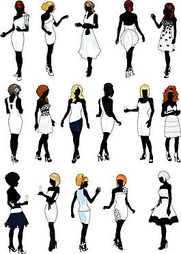 卡通裙子美女漫画图片