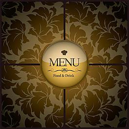 歐式花紋菜單封面圖片