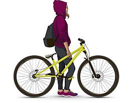 自行車美女圖片