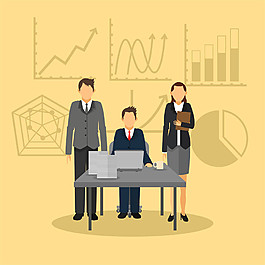 職業商務男女圖表圖片