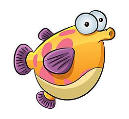 矢量卡通可爱大眼小鱼装饰图案创意元素设计
