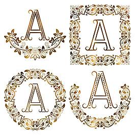 A花紋字母組合圖片