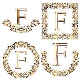 F花紋字母組合圖片