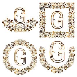 G花紋字母組合圖片
