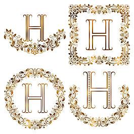 H花紋字母組合圖片