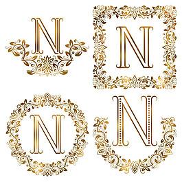 N花紋字母組合圖片