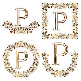 P花紋字母組合圖片