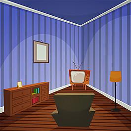 復古客廳效果圖圖片