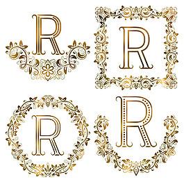 R花紋字母組合圖片