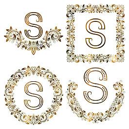 S花紋字母組合圖片