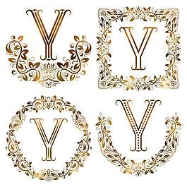 Y花紋字母組合圖片