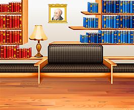 書柜沙發效果圖圖片1