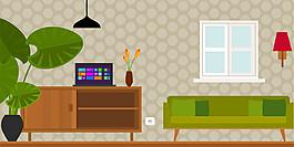 綠色客廳效果圖圖片