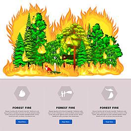 森林著火圖片