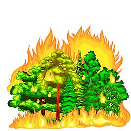 森林著火圖片1