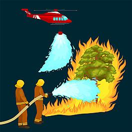 直升飞机和救火图片