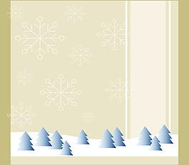 抽象藍色小樹花紋背景