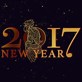 中國風雞年新年矢量素材