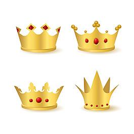 四個紅寶石金色皇冠