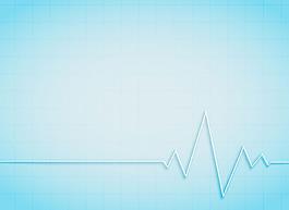 抽象心電圖藍色背景