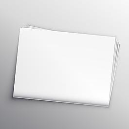 空白報紙模型設計模板