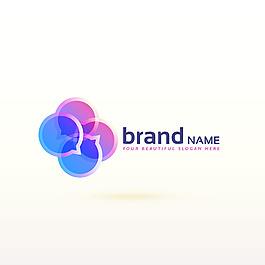 现代讲话气球标志logo