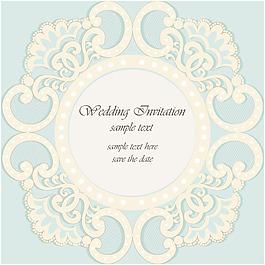 精美裝飾花邊婚禮邀請卡