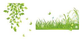 矢量精美綠葉
