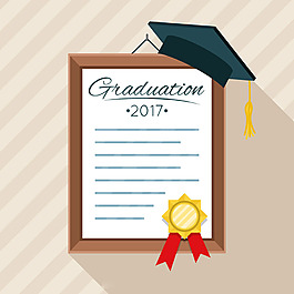 畢業文-憑學位帽背景