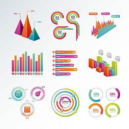 彩色的信息圖表矢量模板