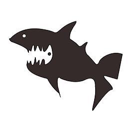 魚和魚骨的正負形