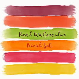 暖色調的水彩畫筆效果素材