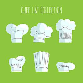 幾個廚師帽平面設計素材
