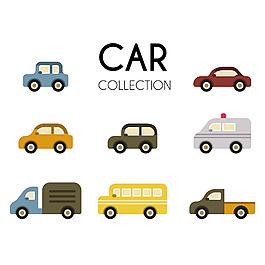 各種交通工具車子插圖