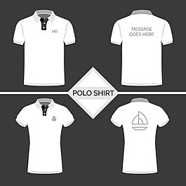 白色polo衫系列插圖