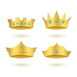 寫實風格金色皇冠矢量素材