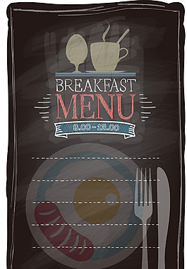 菜單餐具海報背景