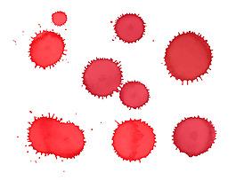 紅漆顏料污漬素材