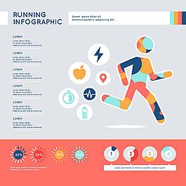 彩色跑步主題信息圖模板