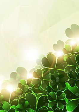 矢量太陽時尚綠花