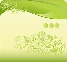 手繪綠色花紋背景