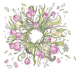 深圳墻貼花朵素材