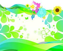 夏季向日葵植物背景