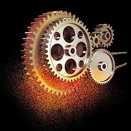 齒輪金屬碎點素材