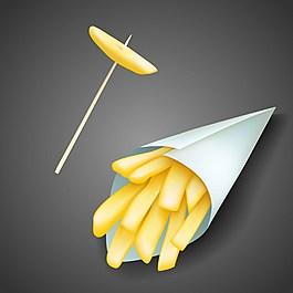 薯條矢量背景